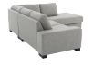 Grey Beige Upholstered Sectional Sofa product photo other05 S