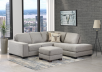 Grey Beige Upholstered Sectional Sofa product photo other07 S