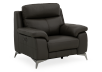 Grey Reclining and Motorized Armchair with Genuine Leather Seat product photo other01 S