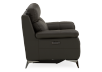 Grey Reclining and Motorized Armchair with Genuine Leather Seat product photo other02 S