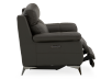 Grey Reclining and Motorized Armchair with Genuine Leather Seat product photo other03 S