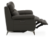 Grey Reclining and Motorized Armchair with Genuine Leather Seat product photo other04 S