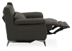 Grey Reclining and Motorized Armchair with Genuine Leather Seat product photo other05 S