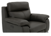 Grey Reclining and Motorized Armchair with Genuine Leather Seat product photo other06 S