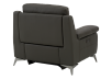 Grey Reclining and Motorized Armchair with Genuine Leather Seat product photo other08 S