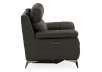 Grey Reclining and Motorized Armchair with Genuine Leather Seat product photo other10 S