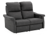 Dark Grey Reclining and Motorized Upholstered Loveseat with Adjustable Headrests - Elran product photo other01 S