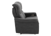Dark Grey Reclining and Motorized Upholstered Loveseat with Adjustable Headrests - Elran product photo other02 S