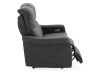 Dark Grey Reclining and Motorized Upholstered Loveseat with Adjustable Headrests - Elran product photo other03 S