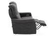 Dark Grey Reclining and Motorized Upholstered Loveseat with Adjustable Headrests - Elran product photo other04 S