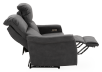 Dark Grey Reclining and Motorized Upholstered Loveseat with Adjustable Headrests - Elran product photo other05 S