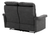 Dark Grey Reclining and Motorized Upholstered Loveseat with Adjustable Headrests - Elran product photo other08 S