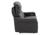 Dark Grey Reclining and Motorized Upholstered Loveseat with Adjustable Headrests - Elran product photo other10 S