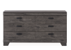 Grey 6-Drawer Dresser product photo