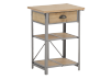 Brown and Grey Metal and Wood End Table product photo other01 S