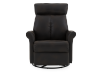 Dark Brown Upholstered Reclining, Rocking and Swinging Armchair product photo