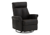 Dark Brown Upholstered Reclining, Rocking and Swinging Armchair product photo other01 S