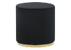 Black and Golden Upholstered Ottoman product photo