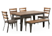 Brown Kitchen Room Furniture with Wood Table product photo other01 S
