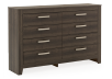 Brown Grey 8-Drawer Dresser product photo other01 S