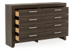Brown Grey 8-Drawer Dresser product photo other02 S