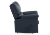 Dark Blue Reclining and Rocking Armchair with Genuine Leather Seat - ELRAN product photo other02 S