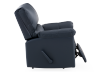 Dark Blue Reclining and Rocking Armchair with Genuine Leather Seat - ELRAN product photo other03 S