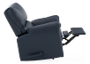 Dark Blue Reclining and Rocking Armchair with Genuine Leather Seat - ELRAN product photo other04 S