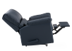 Dark Blue Reclining and Rocking Armchair with Genuine Leather Seat - ELRAN product photo other05 S