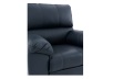 Dark Blue Reclining and Rocking Armchair with Genuine Leather Seat - ELRAN product photo other06 S