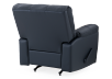 Dark Blue Reclining and Rocking Armchair with Genuine Leather Seat - ELRAN product photo other08 S