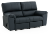 Dark Blue Reclining Loveseat with Genuine Leather Seats - ELRAN product photo other01 S