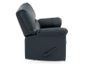 Dark Blue Reclining Loveseat with Genuine Leather Seats - ELRAN product photo other02 S
