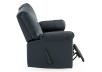 Dark Blue Reclining Loveseat with Genuine Leather Seats - ELRAN product photo other03 S