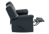 Dark Blue Reclining Loveseat with Genuine Leather Seats - ELRAN product photo other04 S