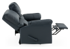 Dark Blue Reclining Loveseat with Genuine Leather Seats - ELRAN product photo other05 S