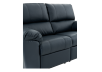 Dark Blue Reclining Loveseat with Genuine Leather Seats - ELRAN product photo other06 S