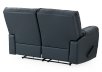 Dark Blue Reclining Loveseat with Genuine Leather Seats - ELRAN product photo other08 S