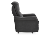 Dark Grey Reclining, Rocking and Battery Motorized Upholstered Armchair - ELRAN product photo other02 S