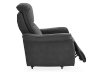 Dark Grey Reclining, Rocking and Battery Motorized Upholstered Armchair - ELRAN product photo other03 S