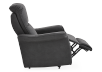 Dark Grey Reclining, Rocking and Battery Motorized Upholstered Armchair - ELRAN product photo other04 S