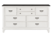 White and Grey Wood 8-Drawer Dresser product photo