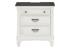 White and Grey Wood Nightstand product photo