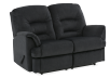 Black Reclining Upholstered Loveseat product photo other01 S