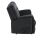Black Reclining Upholstered Loveseat product photo other02 S
