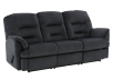 Dark Blue Reclining Upholstered Sofa product photo other01 S