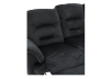 Dark Blue Reclining Upholstered Sofa product photo other06 S