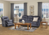 Dark Blue Reclining Upholstered Sofa product photo other10 S