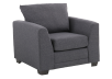 Grey Upholstered Armchair product photo other01 S