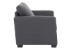 Grey Upholstered Armchair product photo other02 S